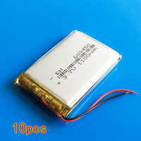 Lot 10 pcs 3.7V 1100mAh 603450 polymer lithium ion rechargeable battery for MP3 MP4 GPS PDA DVD bluetooth recorder e-book camera