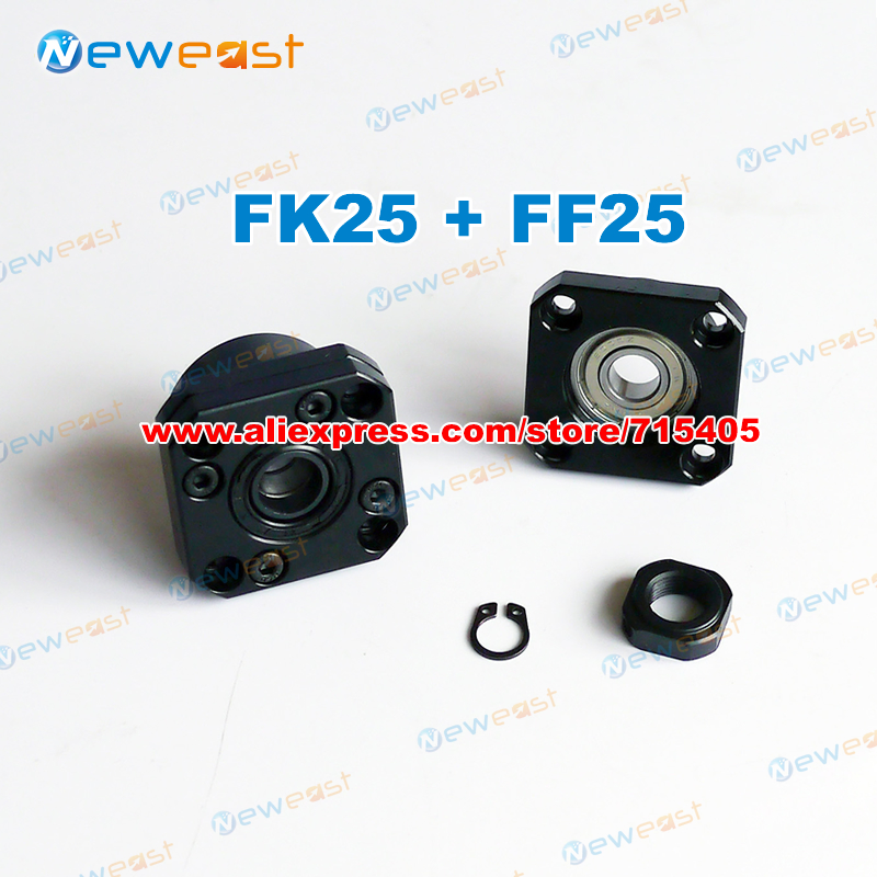 FK25 FF25 Set : FK25 And FF25 For End Support For SFU3205 SFU3210 Ball Screw Support CNC XYZ