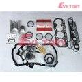 Для Isuzu 600P капитальный ремонт двигателя 4KH1 4KH1T 4KH1-TC поршневое кольцо + полный комплект прокладок + главный/con стержень подшипника