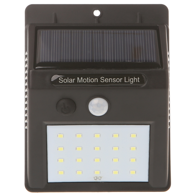 Waterproof 20 LED Solar Power PIR Motion Sensor Wall Light Outdoor Garden Lamp L15