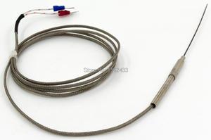 FTARP08 K J Тип 1,5 м металлический экранирующий кабель 100 мм гибкий зонд термопары Датчик температуры диаметр 1 мм 2 мм 3 мм 4 мм