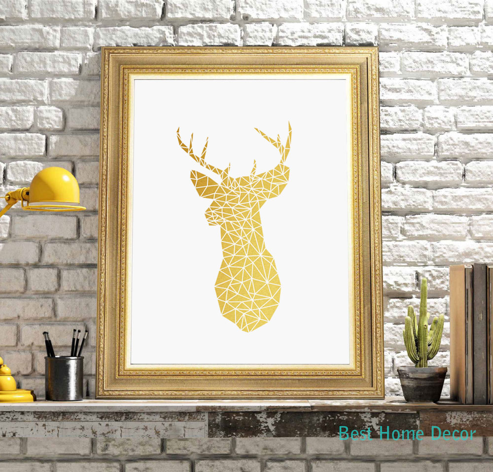 Enchanting 25+ Black And Gold Wall Art Decorating Design Of 49 Black ...
