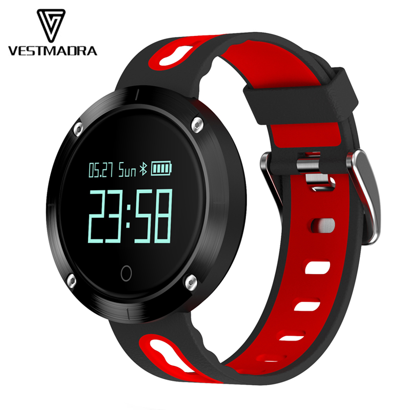 VESTMADRA VM58 Bluetooth Sports Heart Rate Smart Band with Blood Pressure Monitor Waterproof Wristband for iOS
