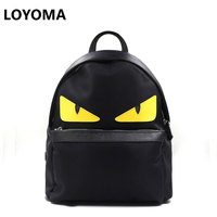 And The Wind Are Imported Waterproof Cloth Backpack Small Monster Cartoon Bag Shoulder Bag Handbag Eyes