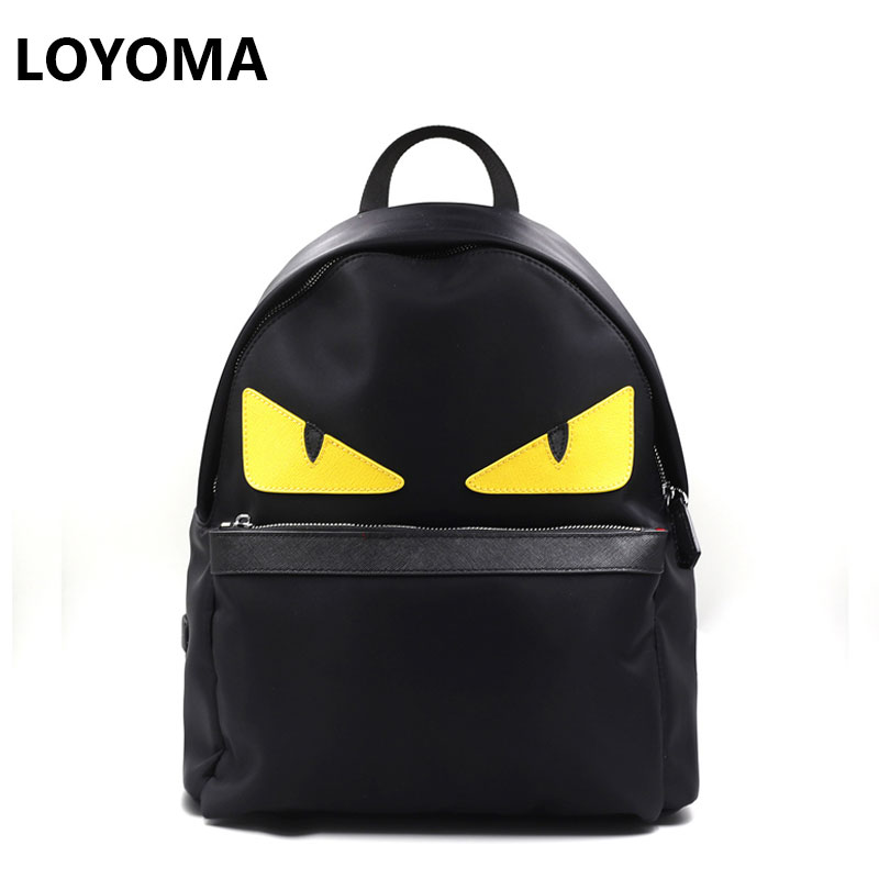 Women Little Monster Backpack Eye Men Waterproof Import Oxfo Bags Printing School Bag for Teenagers Mochila Escolar Black 2017 the hobbit the lord of the rings eye of sauron gilding printing women laptop canvas backpack mochila escolar school bags