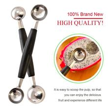 Fruit Dig Spoon Stainless Steel Salad Tool Kitchen Accessories DIY Fruit Set Board Tool Creative Board Gadget Double Head