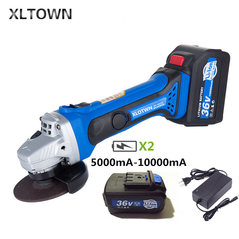 Xltown 21V rechargeable high power lithium battery angle grinder with 2 battery metal grinding and cutting