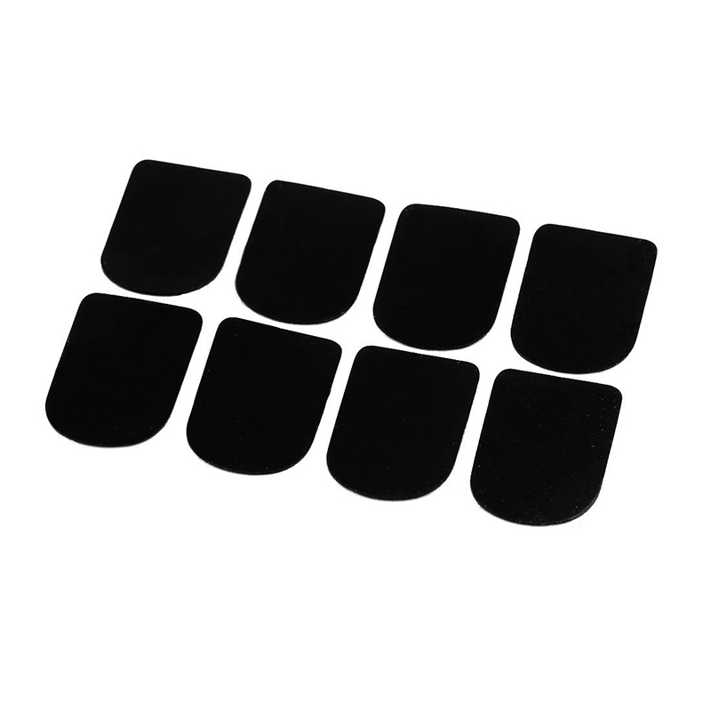Crossfloete / Clarinet / Saxophone Mouthpiece Patches Pads, With Glass Insert, 8 Pieces, Black