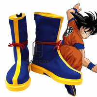 Anime Dragon Ball Son Goku Blue Boots Cosplay Party Shoes Customized Size