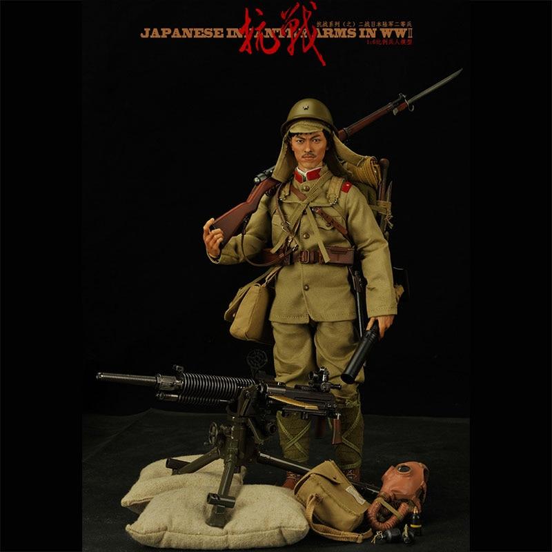 30 CM 1/6 échelle seconde guerre mondiale soldats japonais tissu en plastique multi-conçu soldat modèle Action Figure poupée commune jouets pour garçons