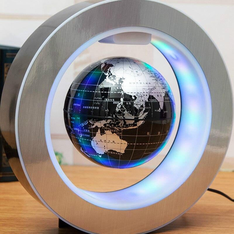 Nouveauté Décoration Lévitation Magnétique Flottant Globe Carte Du Monde avec LED Lumière avec Électro Aimant et Capteur de Champ Magnétique