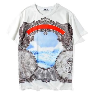 2018 été marée tout nouveau rétro palais vent paysage totem impression t-shirt hommes et femmes amoureux t-shirt à manches courtes
