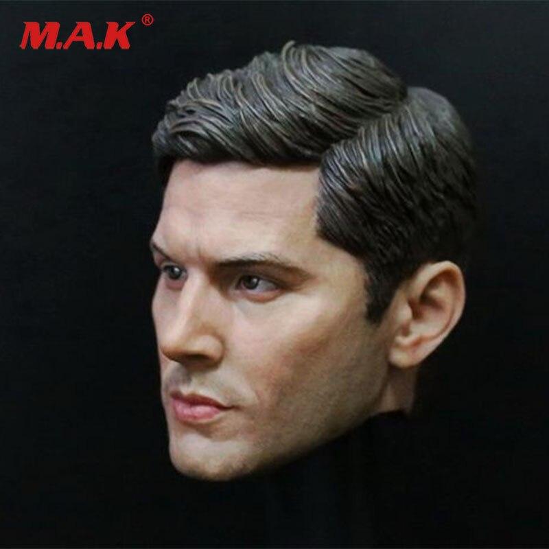 1:6 man head sculpt carving supernatural Dean Winchester Jensen Ackles type headsculpt for 12 male action figure body цена