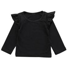 2017 Baby Girls T-Shirt Solid 3 Styles Infant Clothing Comfy Leisure Babies Flying Sleeveless Tees