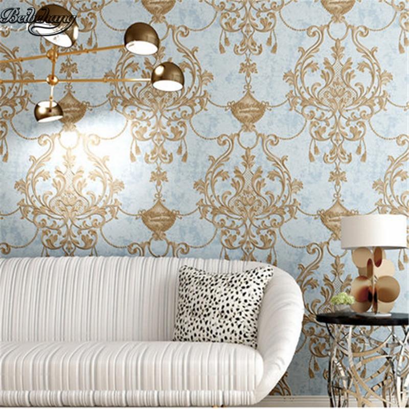 beibehang Retro non woven wallpaper ultra three ...