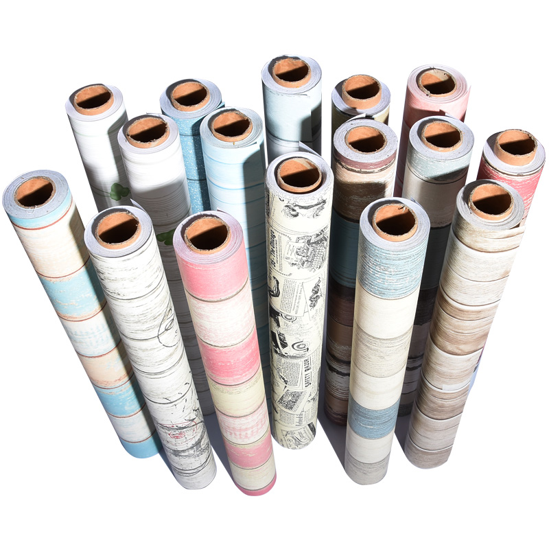 Self - Adhesive Wood Wallpaper College Students Dormitory Wall Furniture Renovation Stickers PVC Wall Stickers-128
