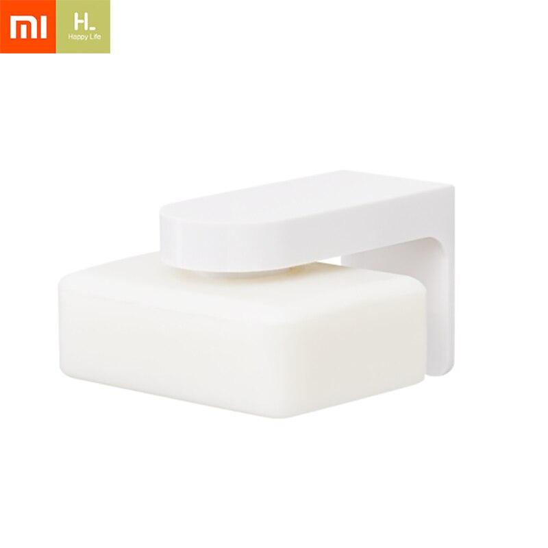 Xiaomi Youpin Happy Life Soap Magnet Holder Prevent Rust Dispenser Adhesion Bathroom Soap Dishes Bathroom Soap Dishes