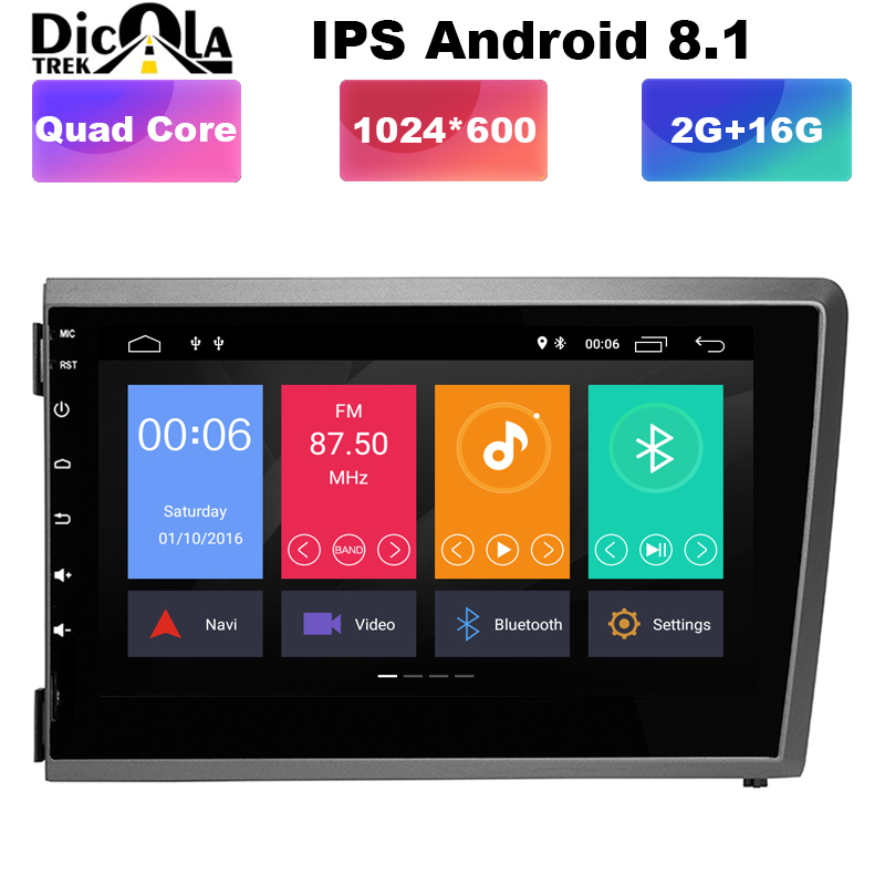 Android 8 1 2 DIN IPS SCREEN CAR DVD PLAYER for Volvo S60 V70 XC70 2000