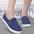 Parejas Amantes hombres Mujeres Otoño Nueva Moda Casual Denim Lienzo de Tela Ocio Slip-On Plataformas Planas Zapatos del Tablero Zapatillas G126
