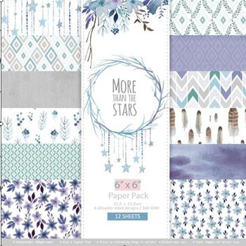 DIY More than the stars style Scrapbooking paper pack of 24 sheets handmade craft paper craft Background pad 1