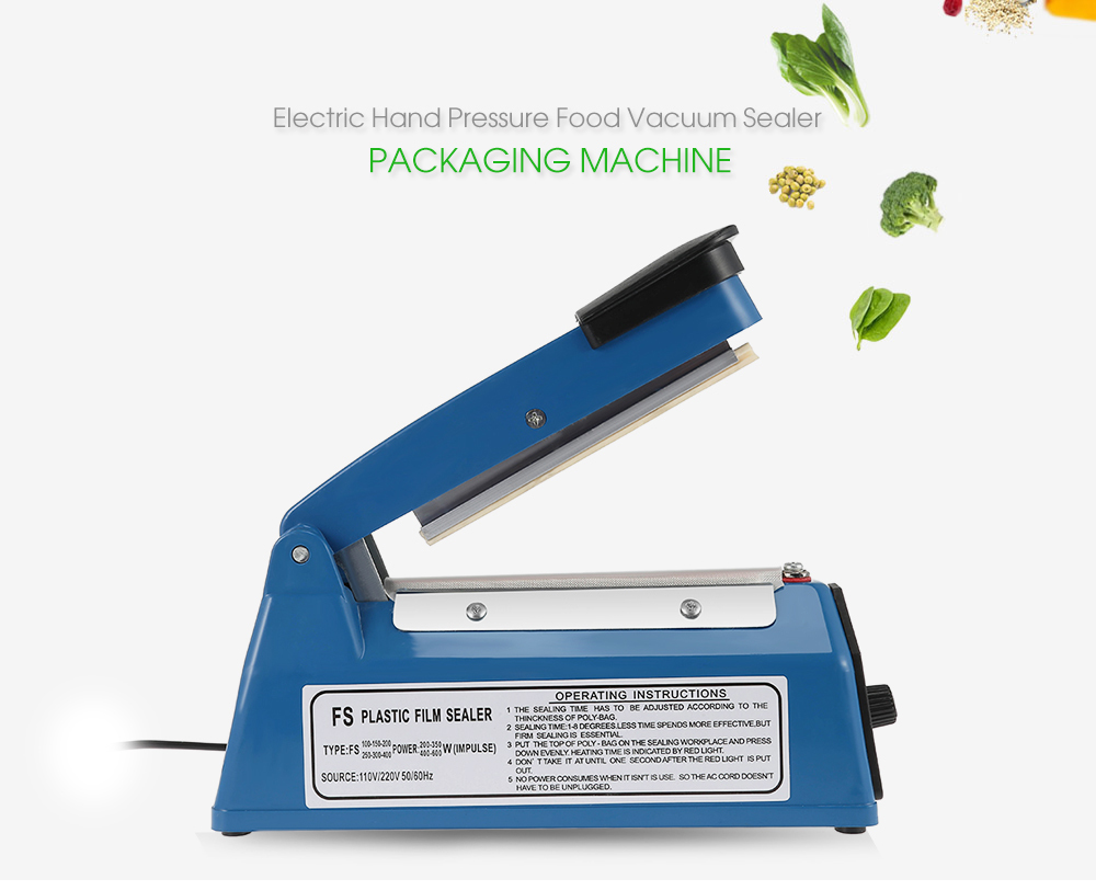 Electric Vacuum Food Sealer Automatic Portable Household Food Vacuum Heat Sealer 220V low power consumption Packaging Machine 220v 220v full automatic electric vacuum sealing machine dry and wet vacuum packaging machine vacuum food sealers