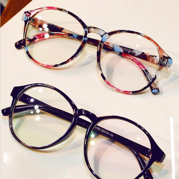 2c61cf47b إطارات أنيقة للنظارات الطبية كبيرة وصفة طبية الزجاج الإطار النساء نظارات  دائرية إطار العلامة التجارية قصر
