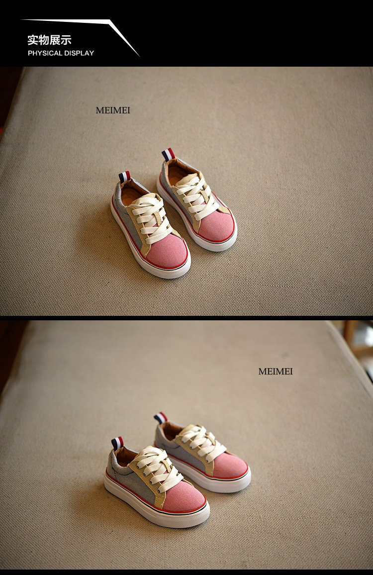 17 New Brand children shoes Fashion girls canvas shoes student Flat kids boys loafers sneakers toddler baby shoes for sports 1