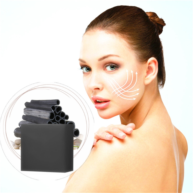 Face Nose Care Bamboo Charcoal Suction Pores Grease Dirt Wholesale Blackhead Remover Handmade Soap Black Head Acne Treatments