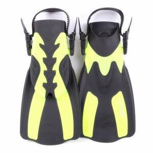Image 3 - Marka nurkowanie płetwy do pływania regulowane dla dorosłych krótkie buty do nurkowania płetwy do pływania Trek Foot Flipper nurkowanie Flippers z obcasem