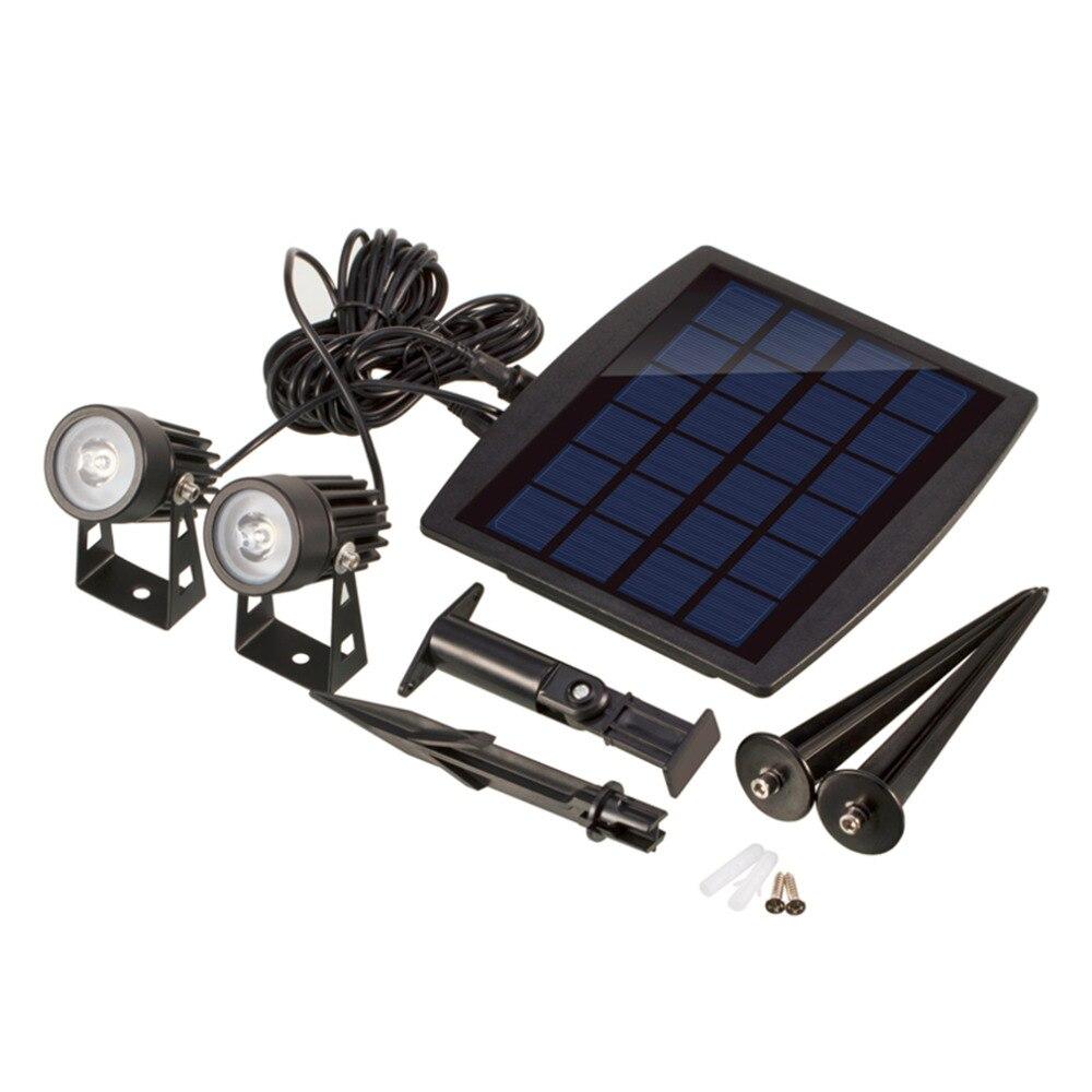 Waterproof IP65 Outdoor Garden LED Solar Light Super Brightness Lawn Lamp Landscape Spot Lights Quality Drop Shipping