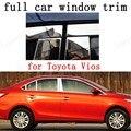 Отделка из нержавеющей стали для полного окна  декоративные полоски  внешние аксессуары для автомобиля для Toyota Vios с колонной  автомобильный...