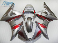 High grade motorcycle fairings kit for YAMAHA R6 YZFR6 2003 2005 YZF R6 03 05 aftermarket fairing kits silver red body DF22