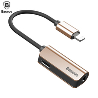 Baseus Audio Cable For IPhone 8 7 Cable Splitter For IPhone To 3 5mm Jack Adapter