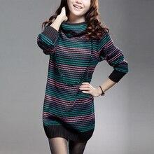 Новый свитер. Осенние и зимние средней длины Свободные Водолазка классический свитер. Для женщин свитер