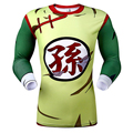 Hot selling New fashion Men's 3D anime T-shirt man tight compression long sleeve T-shirt Isaiah fashion T-shirt digital printing