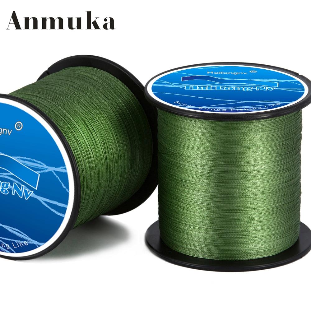 Anmuka brand hailongnv series 500m multifilament pe for Braided fishing line
