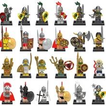 Roman Knight Soldier Army Building Blocks Set Medieval Superhero Game of Throne Figures Toys Compatible LegoINGlys Knight Nexoed