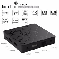 HK1 Android 7.1 Smart TV BOX 2GB 16GB Amlogic S905W Quad Core Set top box H.265 4K WiFi Media player PK X96 TX3 mini Android Box