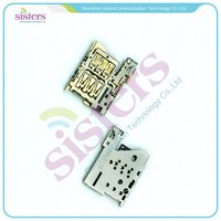 50PCS Sim Card Reader Module Slot Tray Holder Socket Repalcement Part For Nokia Lumia 1520 Free Shipping By DHL