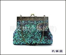 New 2017 Fashion peacock party clutch Luxury diamond chain shoulder bags small size princess women evening