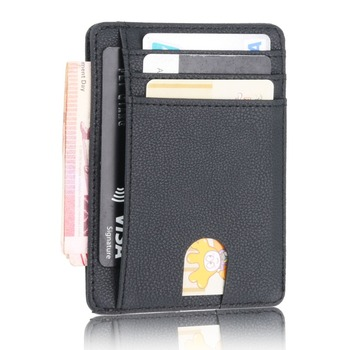 2020 New RFID Blocking Men's Leather Wallet Slim Credit Card Holder Business Male Portable Mini Travel Purse For Man