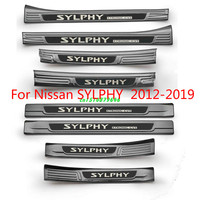 High quality Stainless Steel Plate Door Sill Welcome Pedal Car Styling Accessories For Nissan Sylphy 2012 2019 Car styling