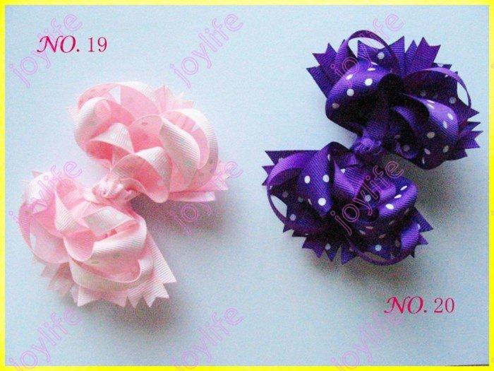 145 шт., 4,5 'неоновые банты для волос, неоновые фанки банты B, твердая лента, Женский бант для волос, заколки для волос