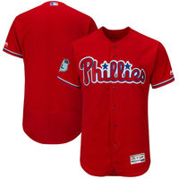 MLB Men's Philadelphia Phillies Baseball Scarlet 2017 Spring Training Authentic Flex Base Team Jersey
