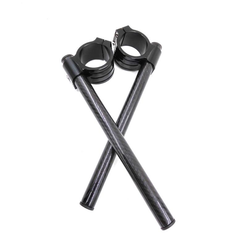 Fibra De Fibra De Carbono Guiador guiador Clip-on Complexo glossiness CBR1000RR 04-13 CBR929/954RR 00-03 CBR900RR SC44 00-01 #50mm