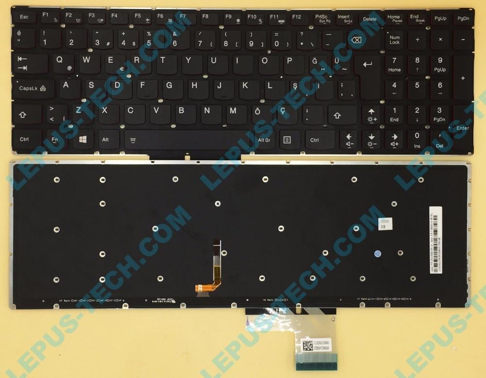 Original TR UK Keyboard for LENOVO Y50 Y50-70 U530 U530P-IFI with backlight red backlight Turkish keyboard akg y50 red