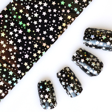 NEW Nail Art Transfer Foils Glue Transfer Adhesive DIY Full Glitter Star Pattern for Nails Toes Accessory 100cmx4cm STZXK45