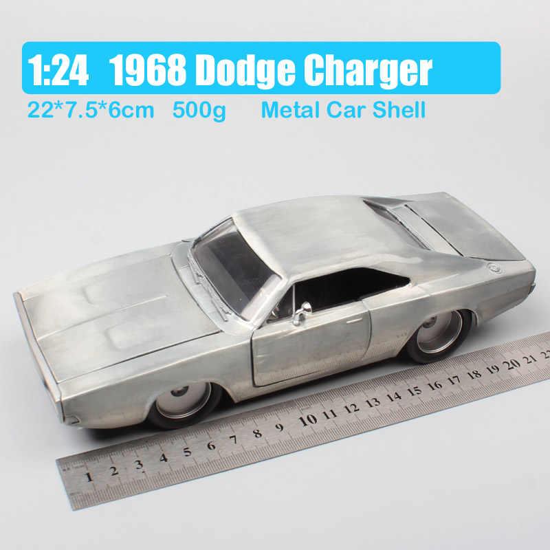 1/24 jada 1968 ダッジチャージャーレースダイキャスト車金属スケールモデルミニチュア小型車ホビーおもちゃ子供コレクタシルバー