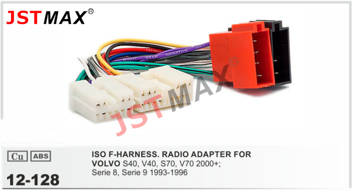 JSTMAX car DVD Radio stereo ISO cable Adapter for VOLVO 1990 2001 select models Wiring Harness volvo s40 wiring harness adapter radio volvo wiring diagrams for  at soozxer.org