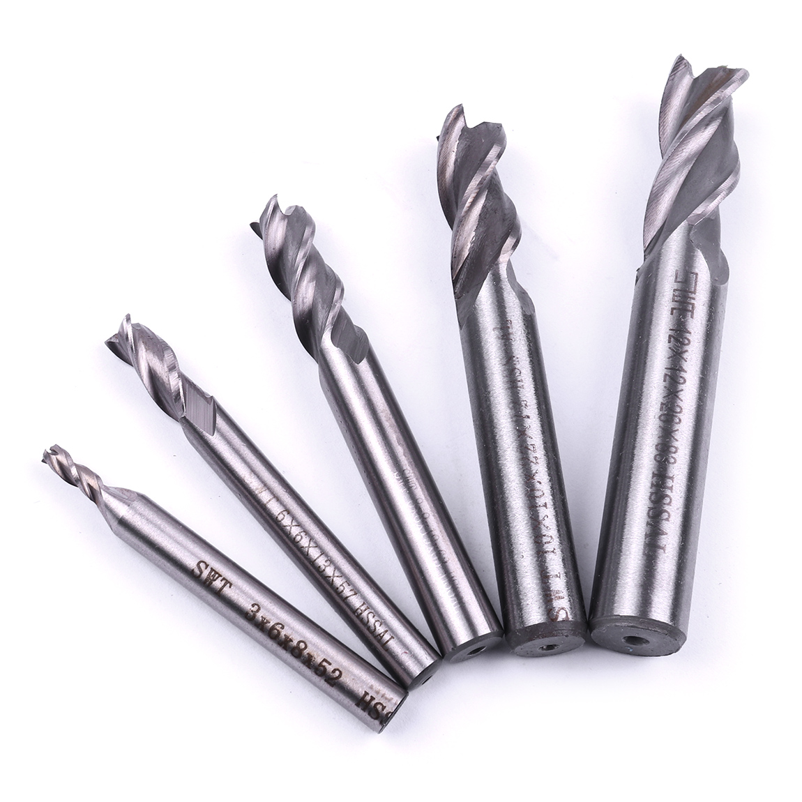 HSS 3 FLUTE EDGE CARBIDE SLOT DRILL BIT END MILL MILLING CUTTER 3mm 6mm 8mm 10mm 12mm